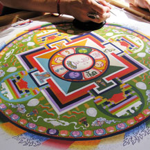 Mandalas in the Tibetan Buddhist tradition and thangka drawing & painting classes